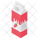 Flavoured Milk Strawberry Milk Strawberry Shake Icon