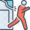 Flee Get Away Scram Icon