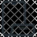 Flexible Display Mobile Phone Icon