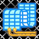 Flexible Solar Panel Icon