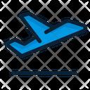 Flight Plane Takeoff Icon