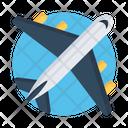 Flight Airplane Aeroplane Icon