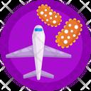 Flight Infection Corona Icon