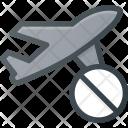 Flight Plane Cancel Icon