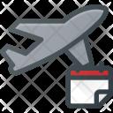 Flight Plane Reservation Icon