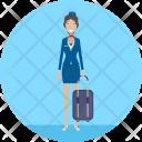 Flight Attendant Travel Icon