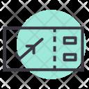 Flight Air Ticket Icon