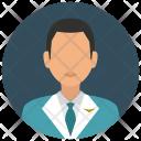 Flight Attendant Man Icon