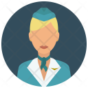 Flight Attendant Woman Icon