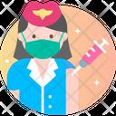 Flight Attendant Air Hostess Profession Icon