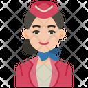 Flight Attendant Air Hostess Woman Icon