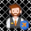 Flight Attendant Icon