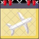 Calendar Date Flight Icon