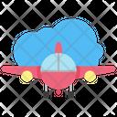 Insurance Plane Passenger Icon