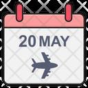 Flight Schedule Calendar Icon