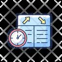 Flight Scheduling Aviation Service Icon