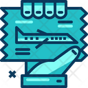 Travel Blue Airplane Icon