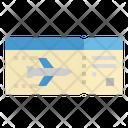 Ticket Flight Airplane Icon