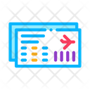 Airline Ticket Boarding Icon