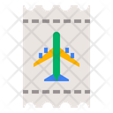 Airplane Flight Ticket Icon