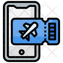 Ticket Mobile Phone Airplane Icon