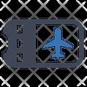Flight Ticket Plane Icon
