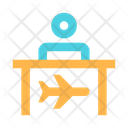 Flight Ticket Office Icon