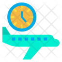 Flight Timing Timing Flight Schedule Icon