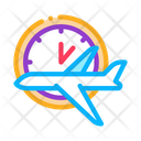 Plane Fly Time Icon