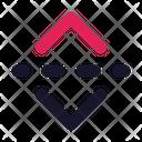 Flip Vertical Design Icon