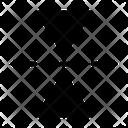 Flip Orientation Vertical Icon