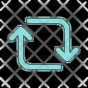 Flip Exchange Shuffle Icon