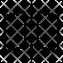 Flip Vertical Vertical Effect Icon