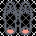 Flip Flops Footwear Casual Footwear Icon