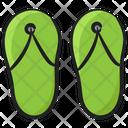 Flip Flops Footwear Casual Slippers Icon