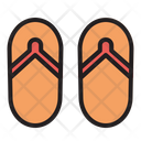 Flip Flops Footwear Slippers Icon