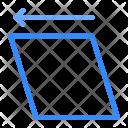 Rotation Left Adjustment Icon
