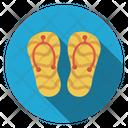 Flipflop Slipper Footwear Icon
