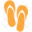 Flipflop Beach Holiday Icon