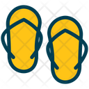 Flipflop Slipers Sandals Icon