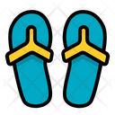 Flipflop Footwear Slippers Icon