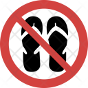 Flipflop not allowed Icon