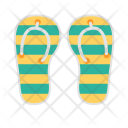 Flipflop Slippers Vacation Icon
