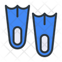 Flipper Diving Fins Icon