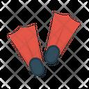 Flipper Fins Swimming Icon