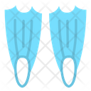 Flippers Fins Swimming Equipment Icon