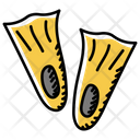 Fins Flippers Apparel Icon