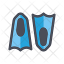 Flippers Swimming Shoes Shoes Icon