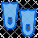 Flippers Sport Snorkeling Icon