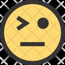 Flirt Emoji Face Icon